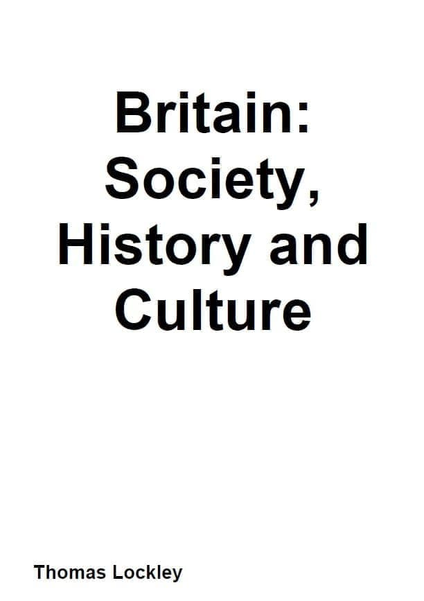 Britain Society History and Culture表紙